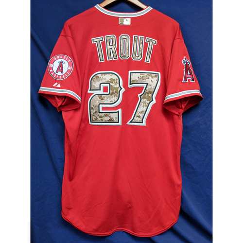 Photo of Mike Trout Game-Used 2015 Memorial Day Jersey