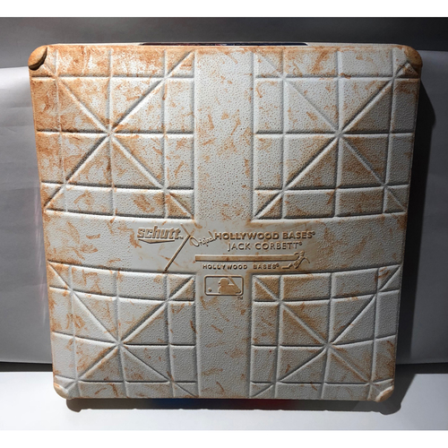 Photo of 2018 ALDS Game-Used Base (G1 & 2) - Cleveland Indians at Houston Astros - 1st base used in 8th inning through end of game - 10/5/2018 - 1st base used during innings 8 and 9 - 10/6/2018