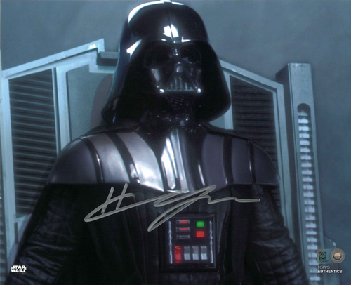 Hayden Christensen As Darth Vader 8X10 Autographed In 'SILVER' INK PHOTO