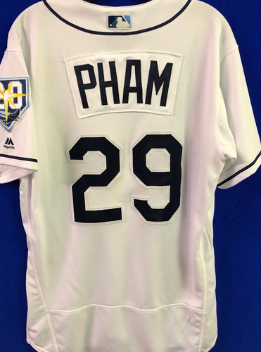 Photo of 20th Anniversary Game Used Home Jersey: Tommy Pham - September 10, 11, 14, 24-28, 2018