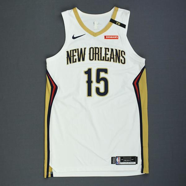 103501d2ff0 Frank Jackson - New Orleans Pelicans - Rookie-Debut - Game-Worn Association Edition  Jersey - 2018.