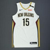 Frank Jackson - New Orleans Pelicans - Rookie-Debut - Game-Worn Association Edition Jersey - 2018-19 Season