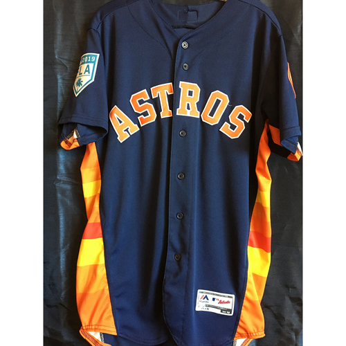 4c320e30d Photo of Alex Bregman 2019 Game-Used Spring Training Jersey - 3 26