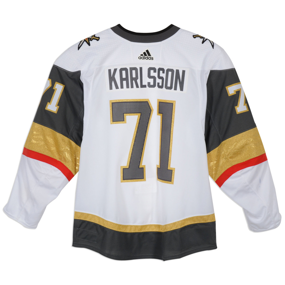 brand new f2a28 ea4e4 William Karlsson Vegas Golden Knights 2018 Stanley Cup Game ...