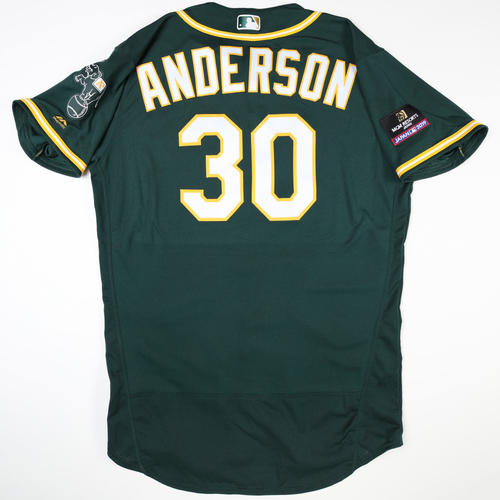 Photo of 2019 Japan Opening Day Series - Game Used Jersey - Brett Anderson, Seattle Mariners at Oakland Athletics -3/18/2019