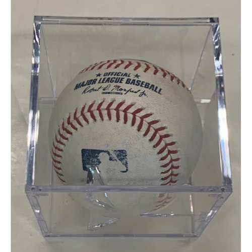Photo of Game-Used Baseball: Oscar Mercado Double