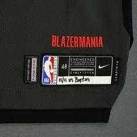Damian Lillard - Portland Trail Blazers - 2018-19 Season - Game-Worn Black City Edition Jersey - Double-Double
