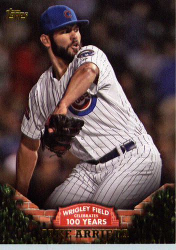 Photo of 2016 Topps 100 Years at Wrigley Field #WRIG5 Jake Arrieta