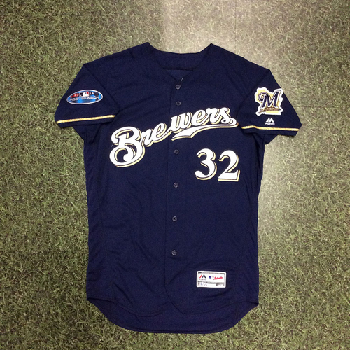 Jeremy Jeffress 2018 Game-Used Postseason Jersey - NLDS Games 1, 2 & 3