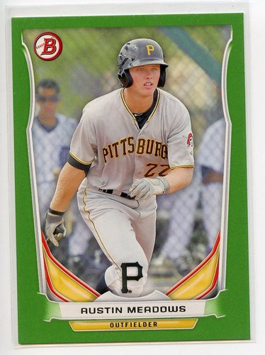 Photo of 2014 Bowman Draft Top Prospects Green #TP10 Austin Meadows