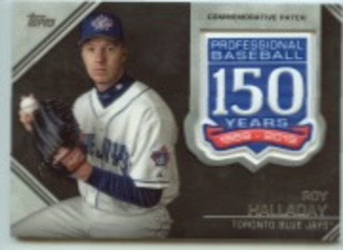Photo of 2019 Topps Update 150th Anniversary Manufactured Patches #AMPRH Roy Halladay