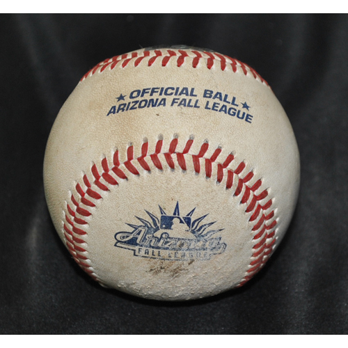Photo of Game-Used Baseball: 2019 Arizona Fall League - Pitcher: Daniel Tillo (KC), Batter: Royce Lewis (MIN) - Double - Top 7 - 10/26/2029