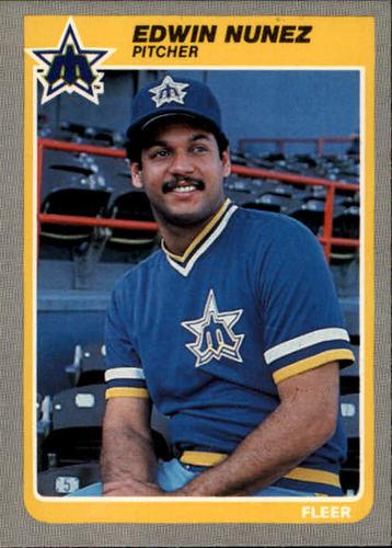 Photo of 1985 Fleer #496 Edwin Nunez
