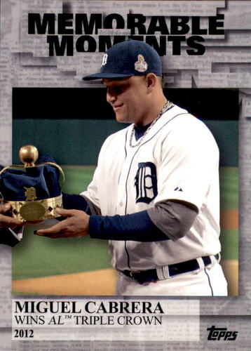 Photo of 2017 Topps Memorable Moments #MM30 Miguel Cabrera