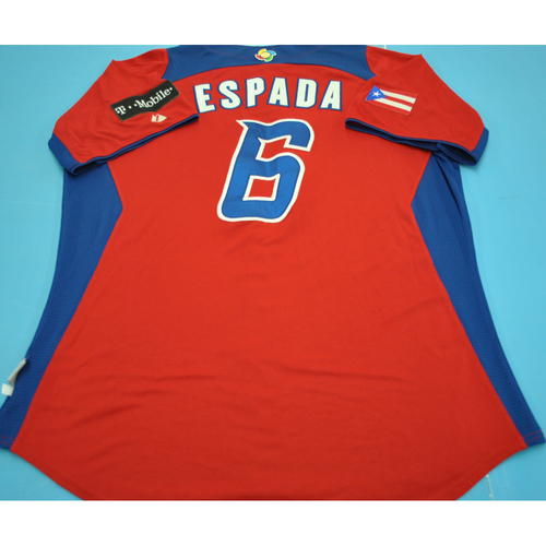 Photo of Game-Used Jersey - 2013 World Baseball Classic - Puerto Rico -  #6 Joe Espada
