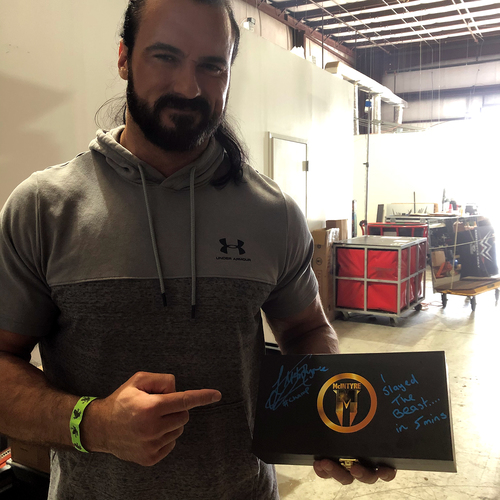 Drew McIntyre SIGNED Championship Replica Side Plate Box Set