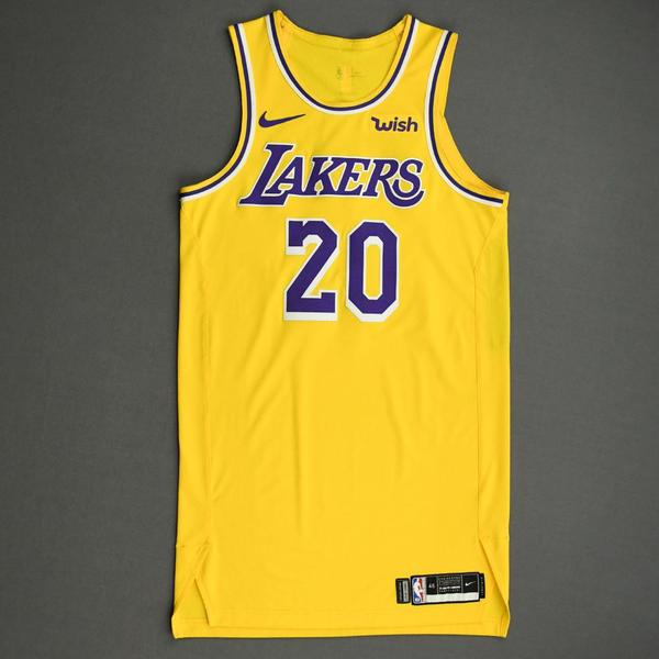 Image of Demetrius Jackson - Los Angeles Lakers - NBA China Games - Game-Worn Icon Edition Jersey - 2019-20 NBA Season