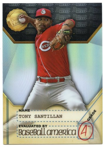 Photo of 2017 Bowman's Best Baseball America's Dean's List #BADLAS Tony Santillan