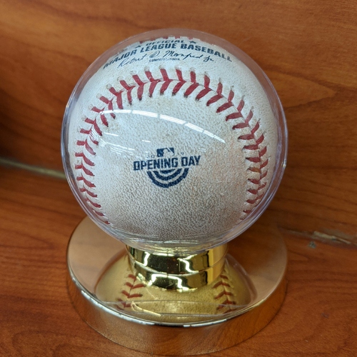 Photo of April 9, 2019 Red Sox vs. Blue Jays Opening Day Game Used Baseball