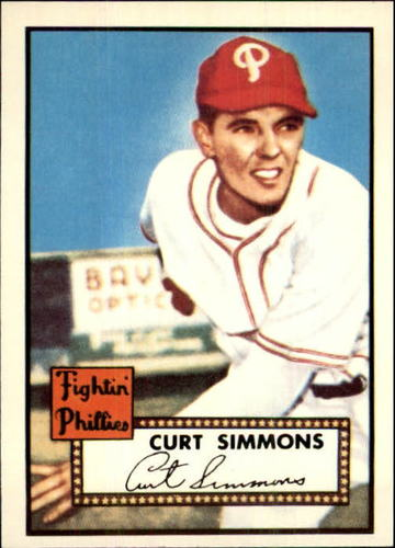 Photo of 1983 Topps 1952 Reprint #203 Curt Simmons