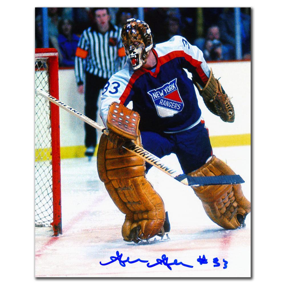 Gilles Gratton New York Rangers BLOCKER SAVE Autographed 8x10