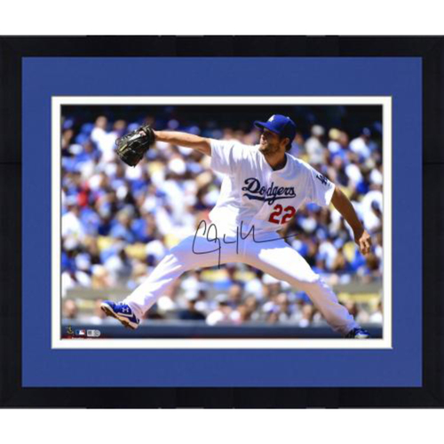 "Photo of Clayton Kershaw Los Angeles Dodgers Framed Autographed 16"" x 20"" Photo"