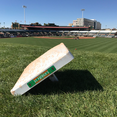 Photo of San Francisco Giants - 2018 St. Patrick's Day - Game-Used 1st Base