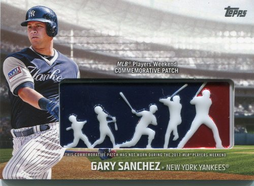 Photo of 2018 Topps Players Weekend Patches #PWPGSA Gary Sanchez