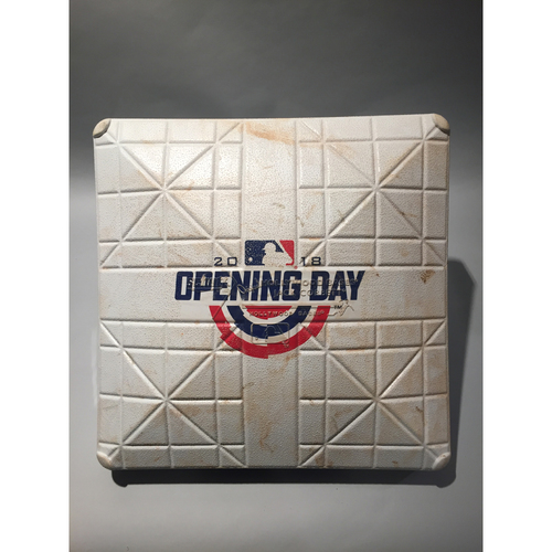 Photo of 2018 Miami Marlins Opening Day Base - 3rd Base used 7th-9th innings