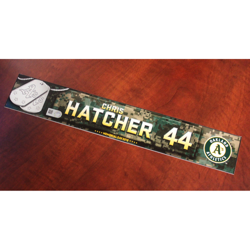 Photo of Chris Hatcher 2018 Team Issued Memorial Day Locker Nameplate
