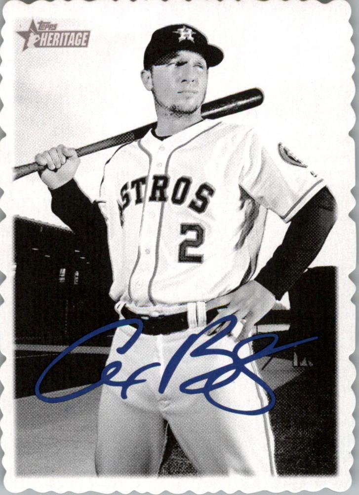 2018 Topps Heritage High Number '69 Topps Deckle Edge #19 Alex Bregman