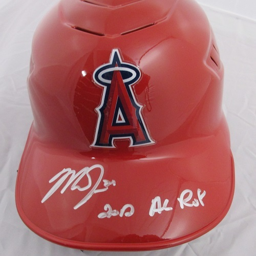 "Photo of Mike Trout Autographed ""12 ROY"" Angels Batting Helmet"