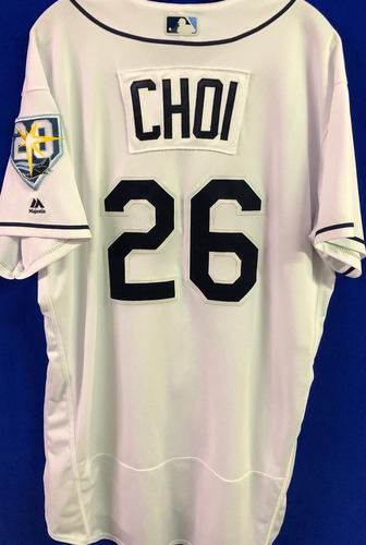 Photo of 20th Anniversary Game Used Home Jersey: Ji-Man Choi - September 24-25, 2018 v NYY