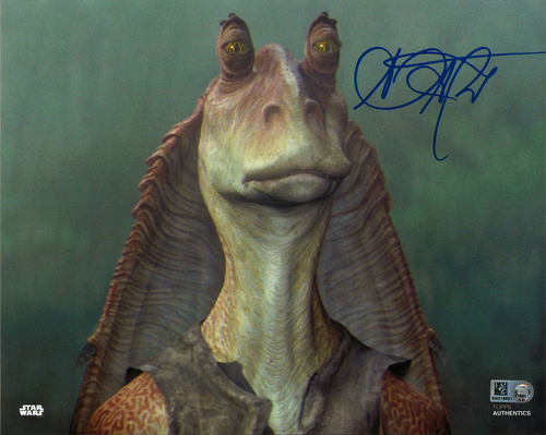 Ahmed Best As Jar Jar Binks 8X10 Autographed IN 'BLUE' INK PHOTO