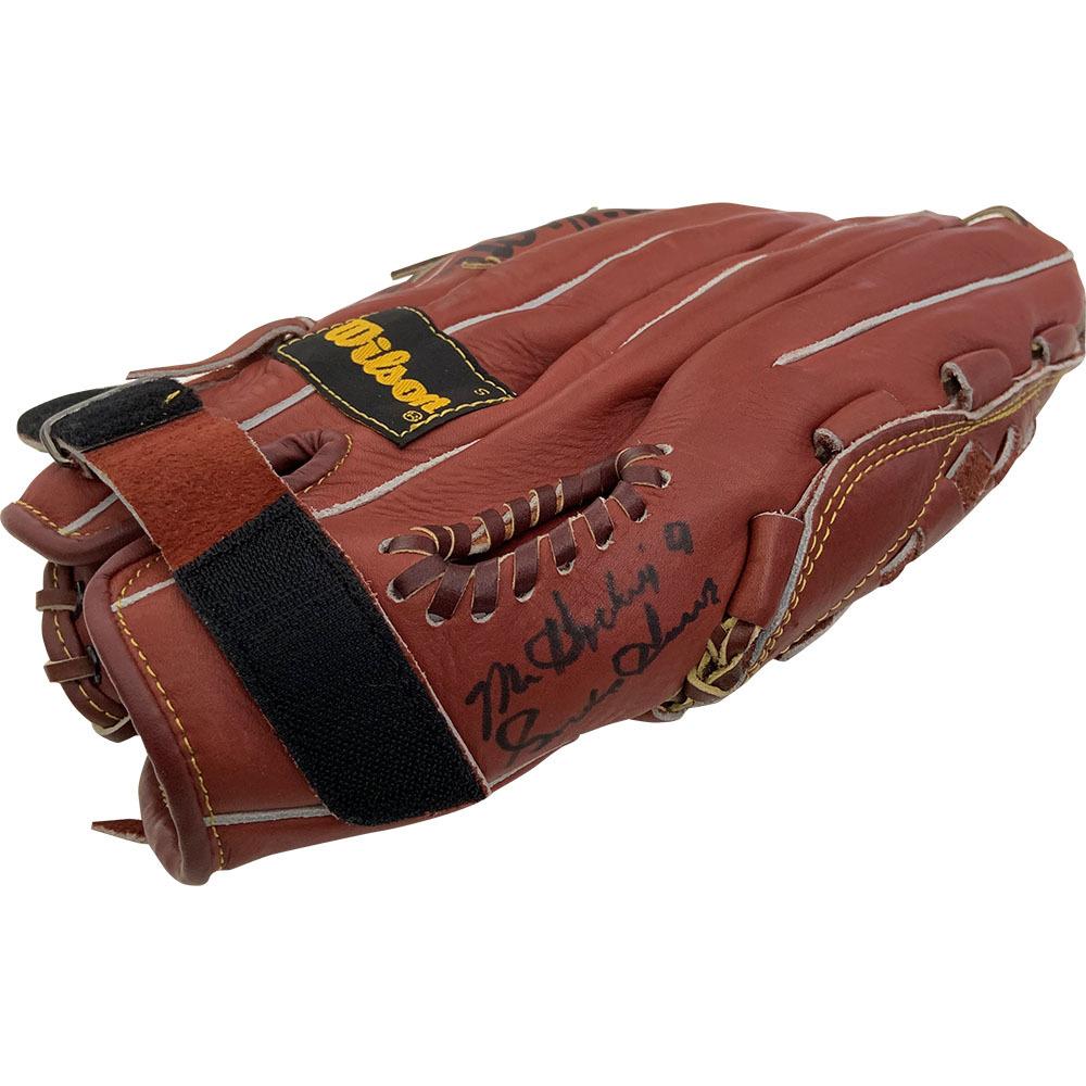 Gordie Howe Autographed & Worn Baseball Glove