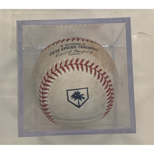 Photo of Game-Used Spring Training Baseball: Miguel Cabrera RBI Double
