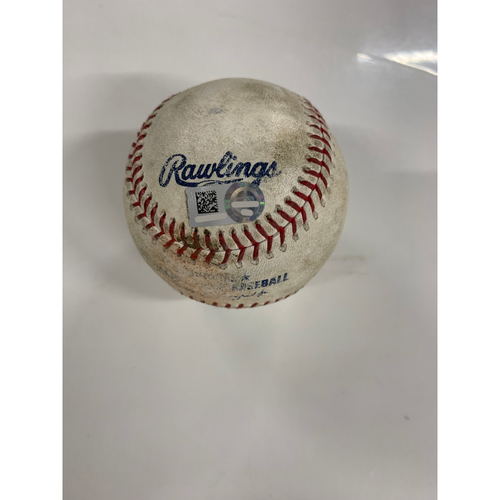 Game Used Baseball: Yu Chang's MLB Debut - Pitcher: John Means, Batter: Bobby Bradley - Strike Out - 6/28/19 vs BAL