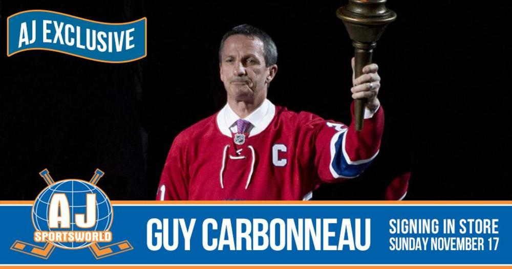 A Meet & Greet Experience with 2019 HHOF Inductee Guy Carbonneau *Nov 17th, 2019 - AJ Sports World*