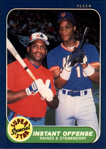 Photo of 1986 Fleer #632 Tim Raines/Strawberry