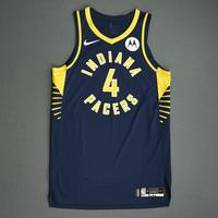 Victor Oladipo - Indiana Pacers - Game-Issued Icon Edition Jersey - NBA India Games - 2019-20 NBA Season