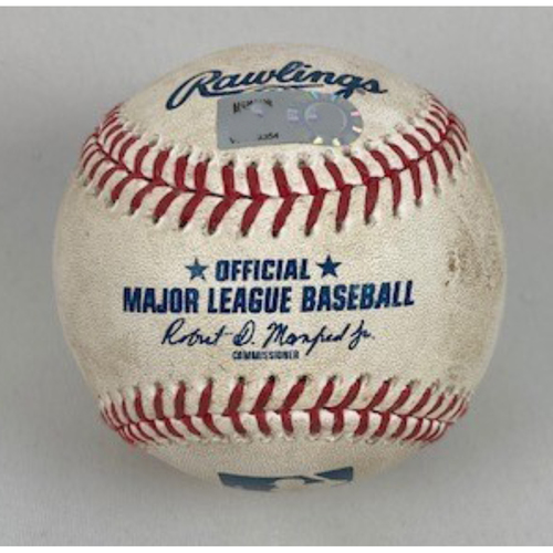 Photo of Game-Used Baseball from 9/26/2020 - White Sox vs. Cubs - Yoan Moncada Home Run