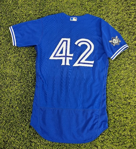 Photo of CHARITY AUCTION: Authenticated Game Used #42 Jersey: Gil Kim (Aug 28, 20). Size 40.