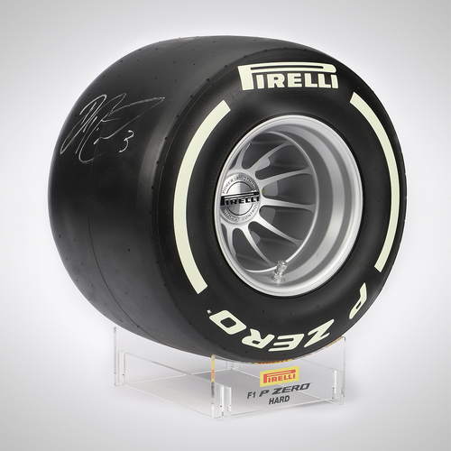 Photo of Daniel Ricciardo Signed Pirelli Wind Tunnel Tyre - Hard Compound