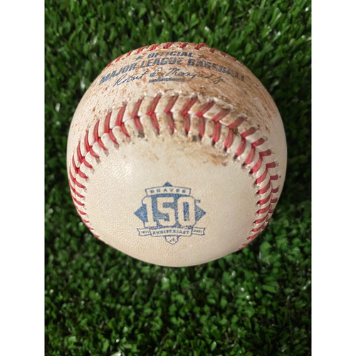 Photo of Home Opener Game Used Ball: 4/9/21 - Batter: Austin Riley, Pitcher: David Hale, Foul
