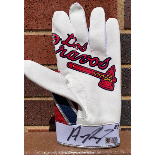 Photo of Austin Riley MLB Authenticated and Autographed Los Bravos Batting Glove