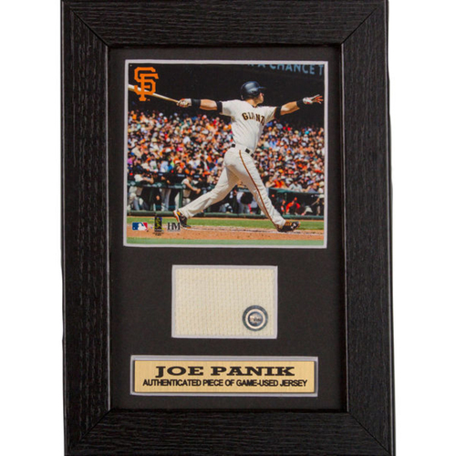 Photo of San Francisco Giants - Joe Panik Game-Used Jersey Swatch Frame