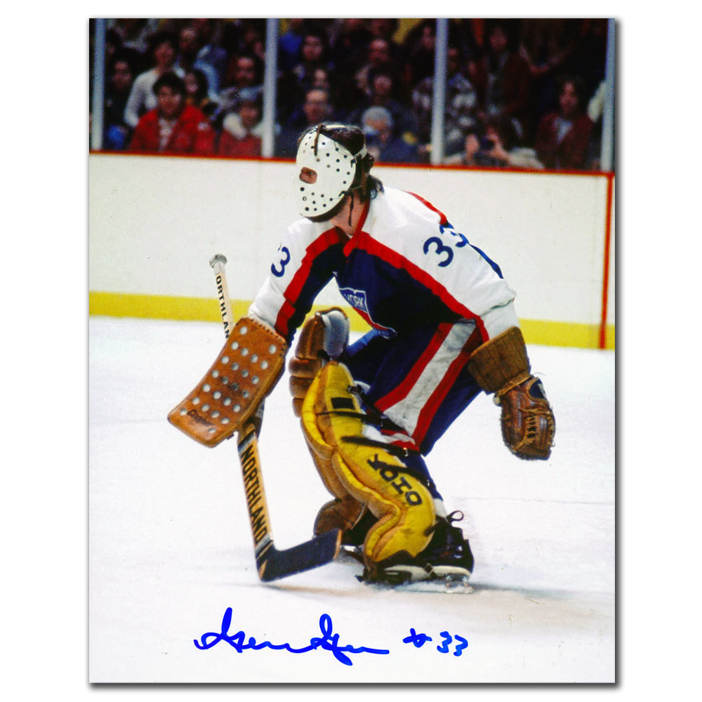 Gilles Gratton New York Rangers ROOKIE MASK Autographed 8x10