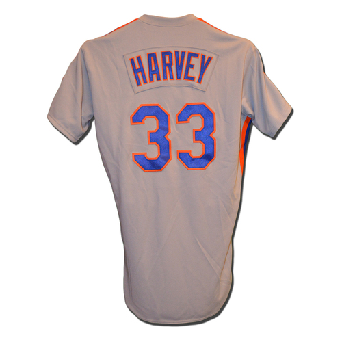 Photo of Matt Harvey #33 - Team Issued 1986 Throwback Road Jersey - 2016 Season