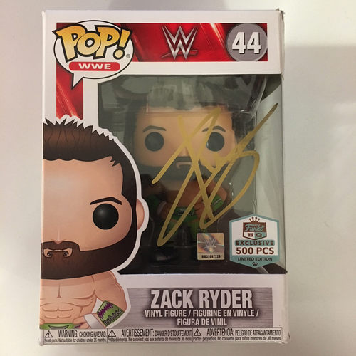 Photo of Zack Ryder SIGNED POP! Vinyl Figure
