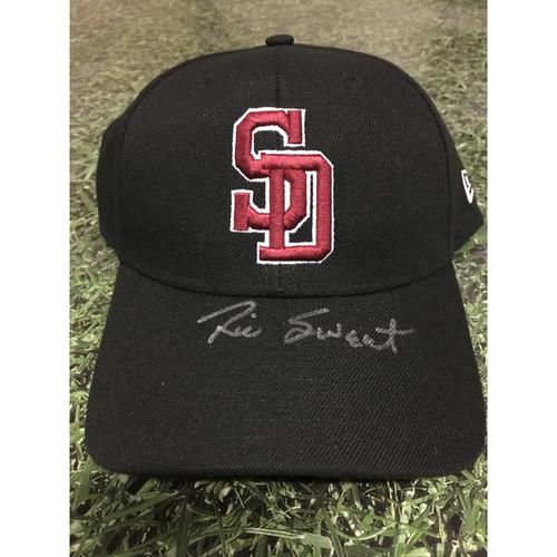Photo of Rick Sweet Autographed, Game Worn Stoneman Douglas Eagles Cap